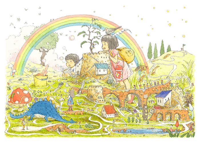大庭賢哉 初のえほん『トマとエマのとどけもの ~みちをたどるおはなし~』 刊行記念原画展